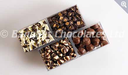 Decorative Chocolate Pralines from Banquet Chocolates