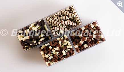 Decorative Chocolate Rolls from Banquet Chocolates
