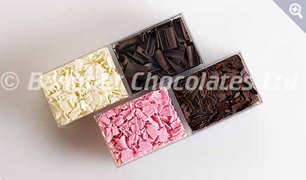 Decorative Chocolate Shavings from Banquet Chocolates