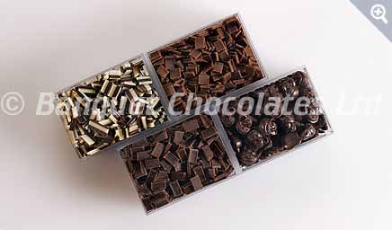 Decorative Chocolate Squares from Banquet Chocolates