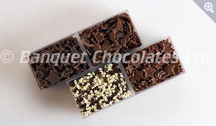 Decorative Chocolate Stars from Banquet Chocolates